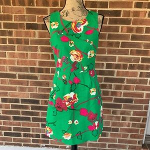 Like new J. Crew floral sleeveless shift dress